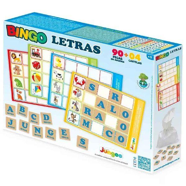 Jogo Bingo Letras Educativo Junges 705
