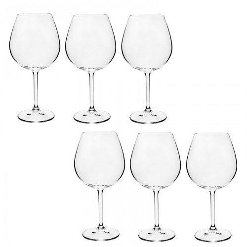Conjunto de Taças para Vinho 650ML Gastro 6PÇS Bohemia 56140