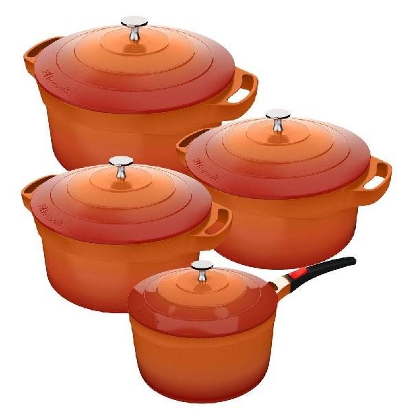 Jogo de Panelas com 4 Peças LE Cook com Revestimento Ceramico