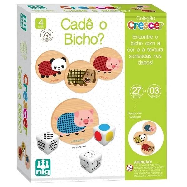 Jogo Infantil Cade o Bicho NIG Brinquedos 0454