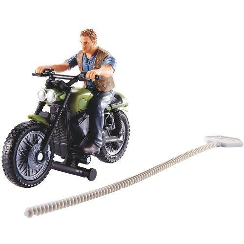 Jurassic WORLD Perseguicao Jurassica OWEN e Motocicleta Mattel FMM32