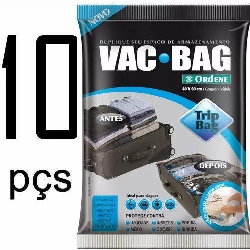 Kit 10 Saco a Vácuo Protetor e Organizador TRIP BAG 60 X 40 Ordene