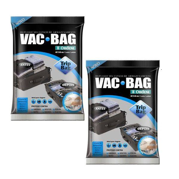 Kit 2 Sacos a Vacuo VAC BAG TRIP BAG 60X40 Ordene