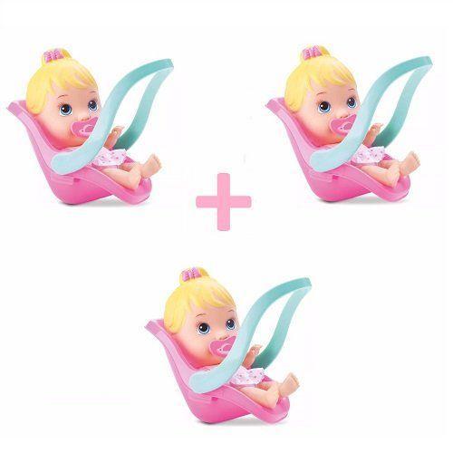Kit 3 Boneca Little DOLLS Conforto Divertoys
