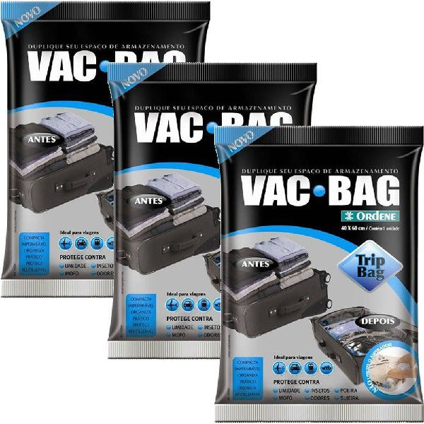 Kit 3 Sacos À Vácuo VAC BAG TRIP BAG 60X40 Ordene