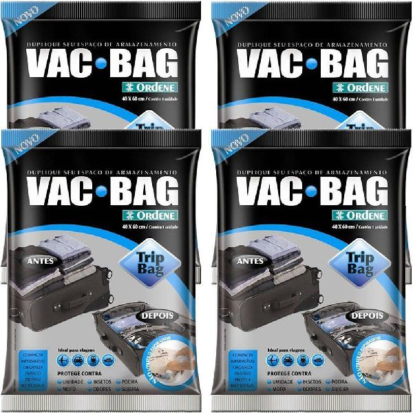 Kit 4 Sacos À Vácuo VAC BAG TRIP BAG 60X40 Ordene