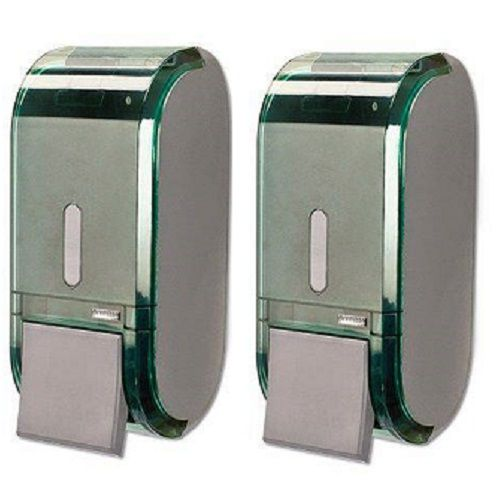 Kit com 2 Dispenser Saboneteira URBAN Verde Premisse C19303