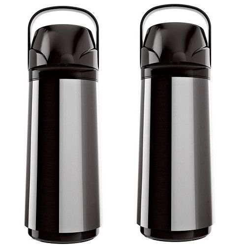 Kit com 2 Garrafas Termicas AIR POT INOX NEW 1,0L Invicta
