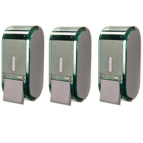 Kit com 3 Dispenser Saboneteira URBAN Verde Premisse C19303