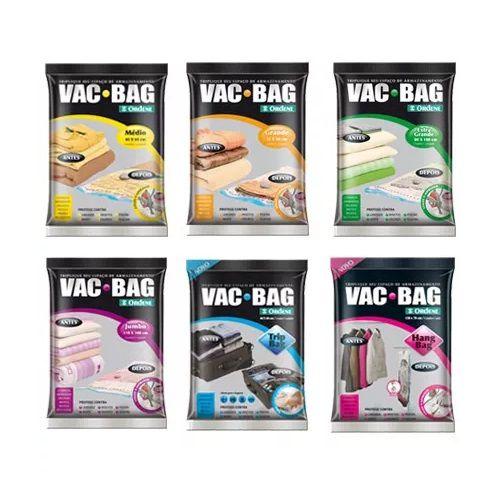 Kit com 6 Saco a Vácuo Todos os Tamanhos - VAC BAG Ordene
