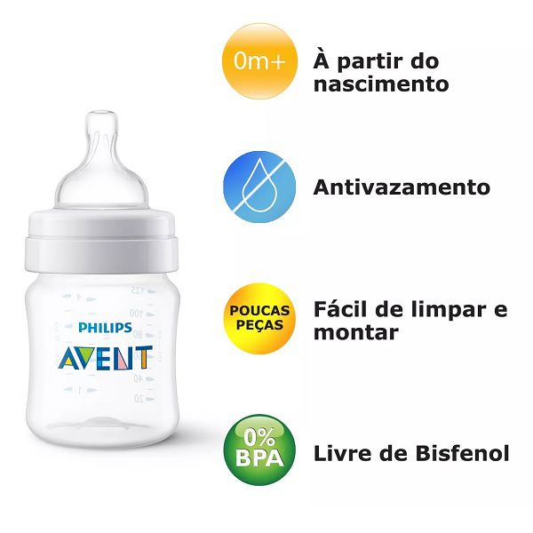 Kit Mamadeiras Classica 125/260/330ML SCD372/03 Philips AVENT