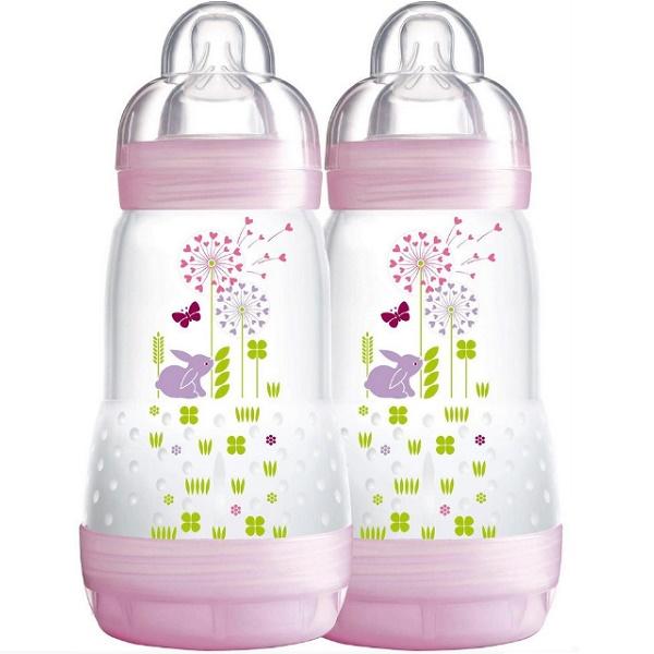Kit Mamadeiras FIRST Bottle 2 Peças (0M+) 260ML GIRLS MAM 4674