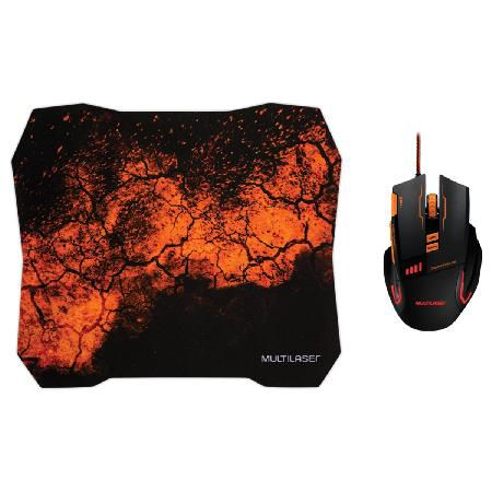 Kit Mouse e Mouse PAD Gamer Multilaser MO256