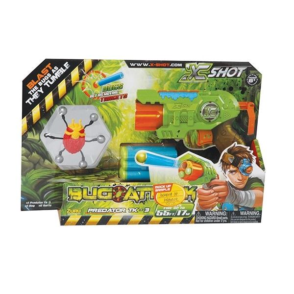 Lançador BUG ATTACK Predator 3 Tiros Vermelho Candide 5507