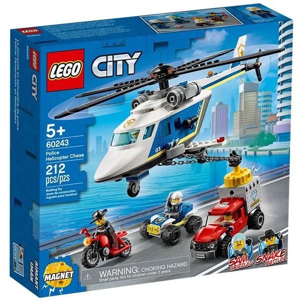 Lego CITY Perseguiçao Policial de Helicoptero 60243