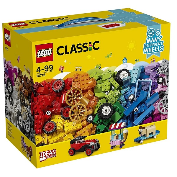 Lego Classic Caixa Peças Sobre Rodas 10715