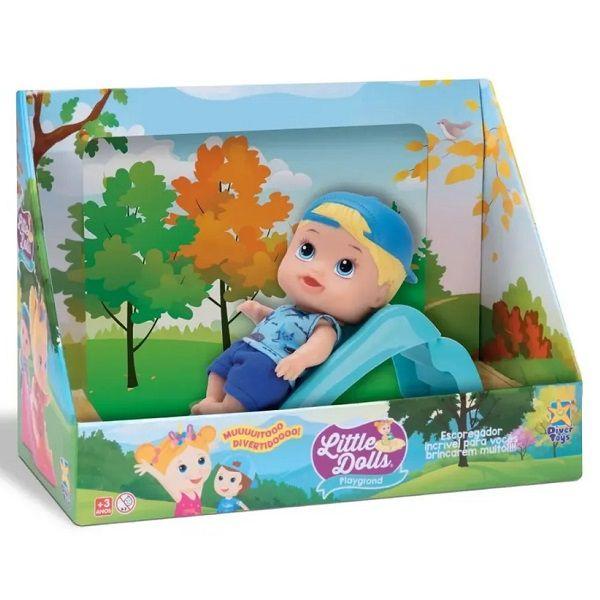 Little DOLLS Playground Boneco Menino com Escorregador Divertoys 8095