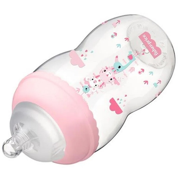Mamadeira Fisher Price FIRST Moments 330ML Rosa Multikids BB1028