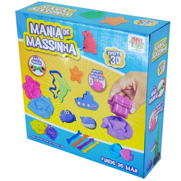 Mania de Massinha Fundo do MAR DM TOYS DMT5561