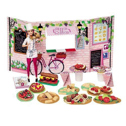Massinha Barbie Food TRUCK Cantina e Pizzas FUN 7968-1