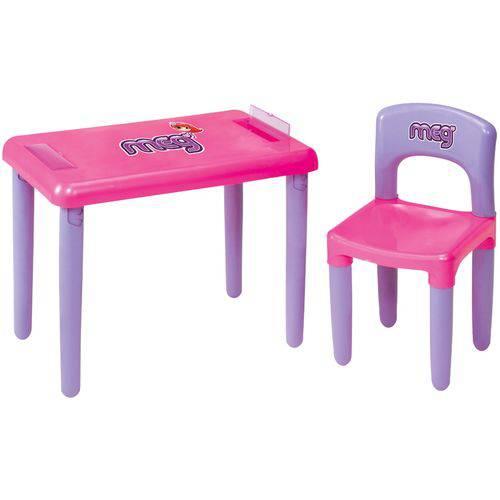 Mesa MEG com Cadeira Lilas e Rosa Magic TOYS 3023