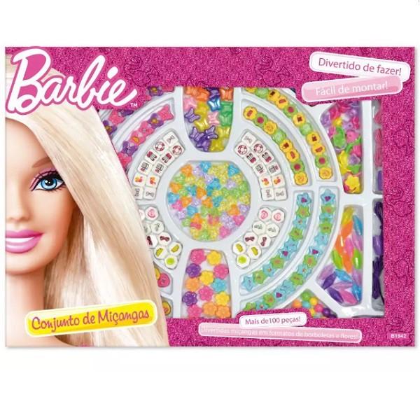 Miçangas Barbie Caixa com 100 Pecas FUN B1942 6991-3