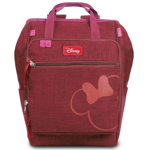 Mochila Maternidade BABY BAG G Casual Luxo Disney Minnie Vinho Babygo 881
