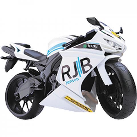 Moto Racing Motorcycle 34,5CM Branco Roma 0905