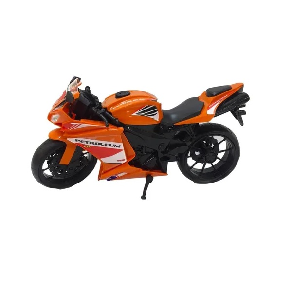 Moto Racing Motorcycle 34,5CM Laranja Roma 0905
