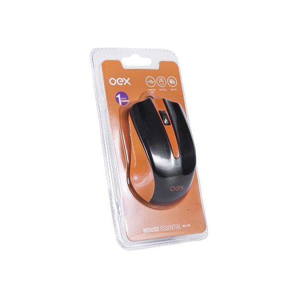 Mouse com Fio 1000 DPI OEX MS100 - Laranja