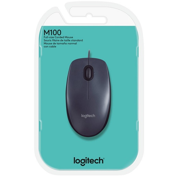 Mouse Optico Logitech USB M100 Preto 910-001601