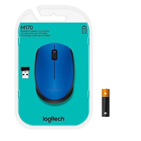 Mouse Optico sem Fio M170 AZUL Logitech 910-004800