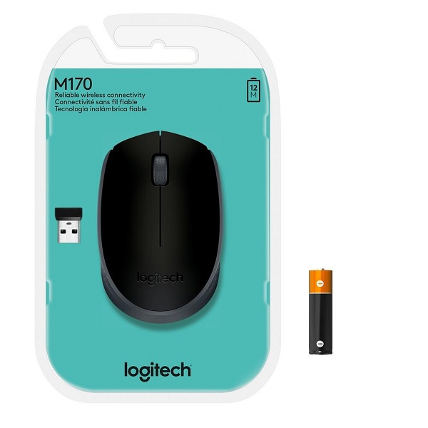 Mouse Optico sem Fio M170 Preto Logitech 910-004940