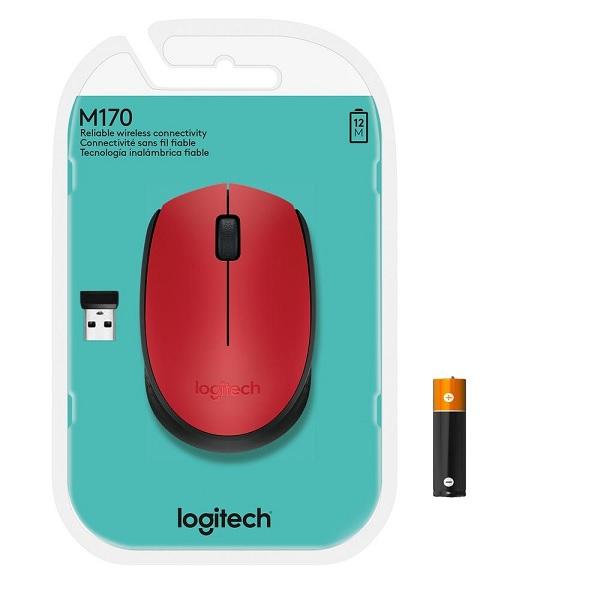 Mouse Optico sem Fio M170 Vermelho Logitech 910-004941