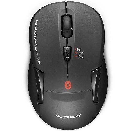 Mouse sem Fio Bluetooth Preto Multilaser MO254