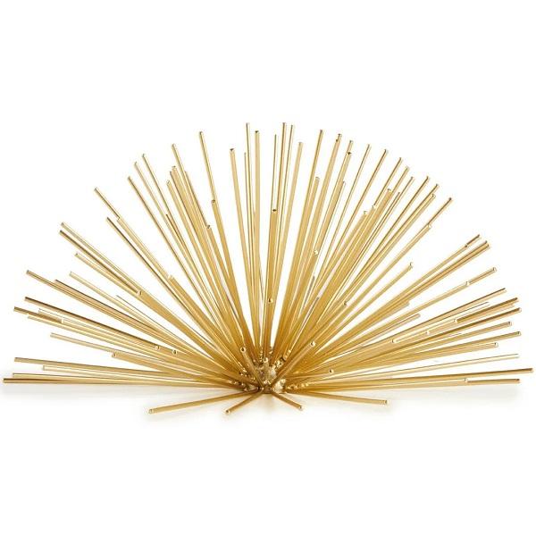 Ouriço Decorativo em Metal Dourado MART 13356