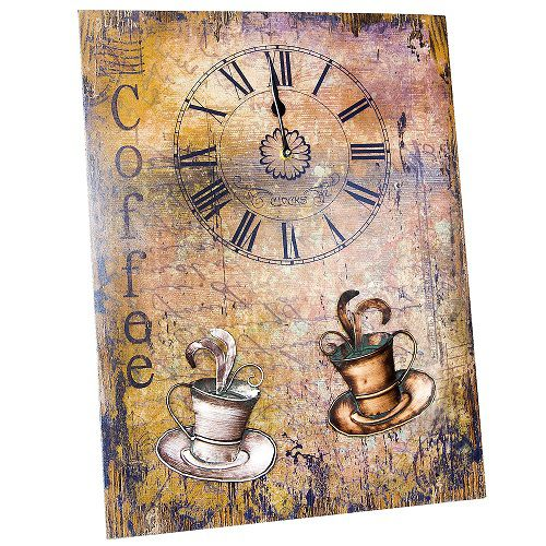 Painel Decorativo MDF Relogio Cafe Unika 0079