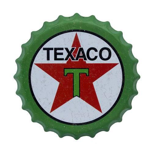 Painel Tampinha Decorativo Texaco 40CM em Aluminio Unika 724