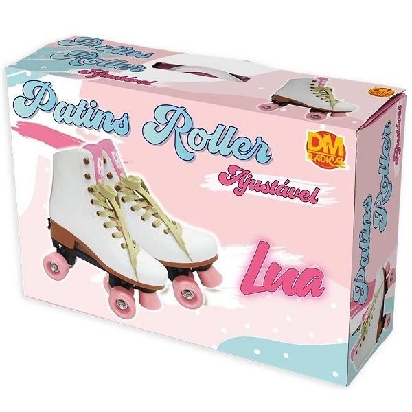 Patins Roller Ajustavel Lua 4 Rodas Tamanho G (39-42) DM TOYS DMR5864G