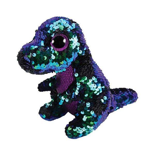 Pelucia Beanie Boos Paete Medio CRUNCH Dinossauro Preto DTC 5010