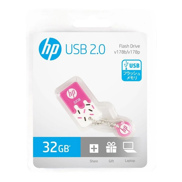 Pen Drive 32GB USB2.0 Mini V178P PINK HP
