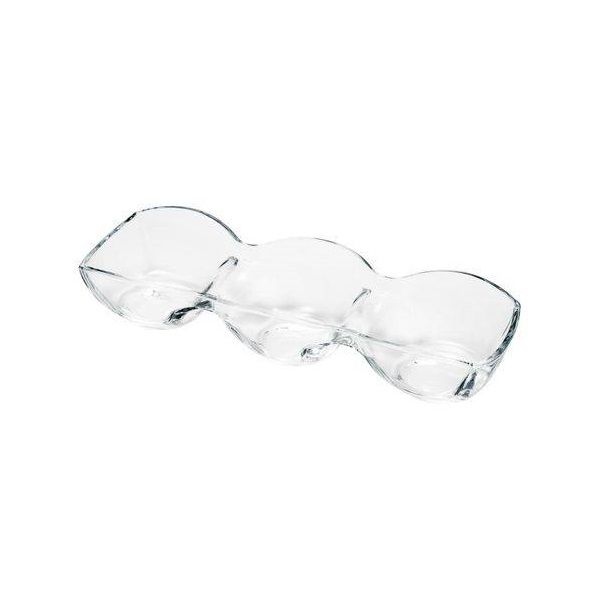 Petisqueira de Vidro Cristal Ecologico Danielli 3 Divisoria Rojemac 6104