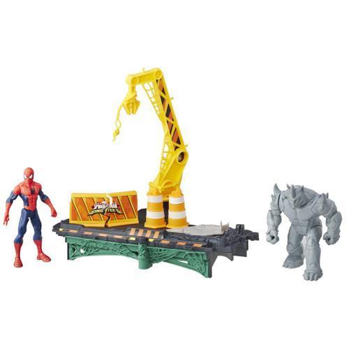 Playset Marvel Spider MAN Rhino ATACA Hasbro B7199 11658