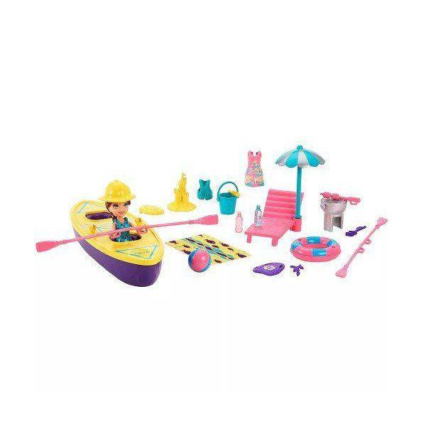 Polly Boneca e Veiculo Aquatico Caiaque da Lila Mattel FVH41/FRY85