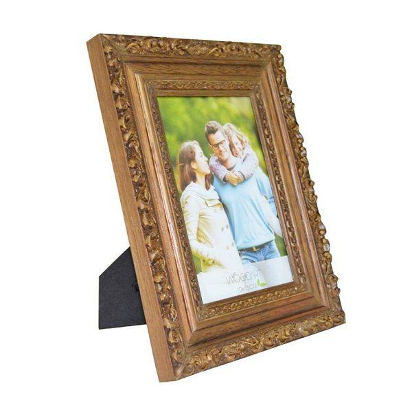 Porta Retrato Elegance 10X15CM em Madeira Natural Woodart 11824