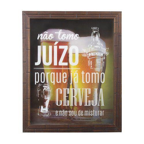 Quadro Decorativo Coleçao de Tampinhas Juizo Unika QPTMP-301