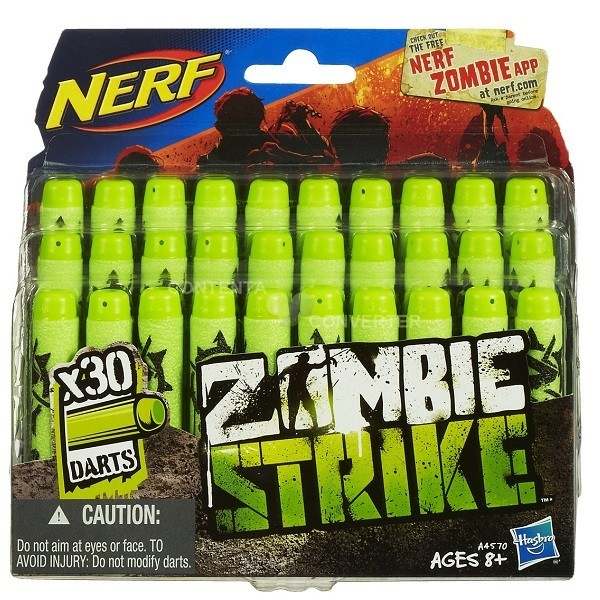 Refil NERF Zombie 30 Dardos Hasbro A4570 8470