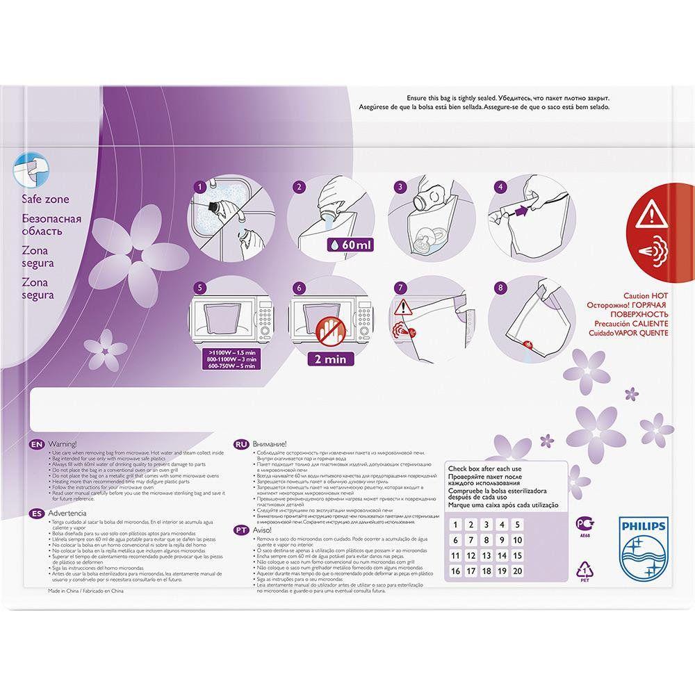 Sacos de Esterilizaçao Philips AVENT SCF297/05