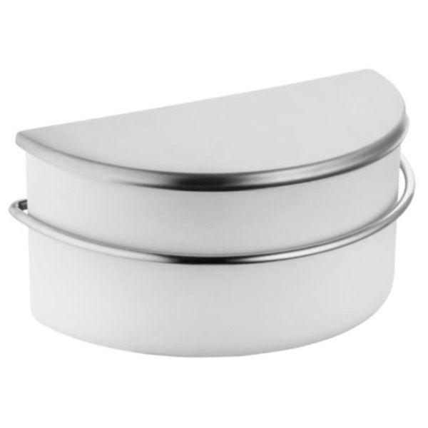 Saleiro Branco de Bancada 1 KG Forma INOX Linha DRY Forma 1345/W