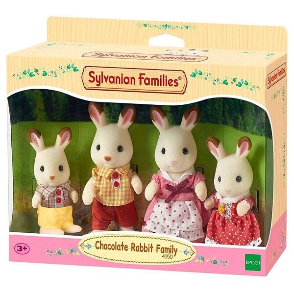 Sylvanian Families Familia dos Coelhos Chocolate EPOCH Magia 4150